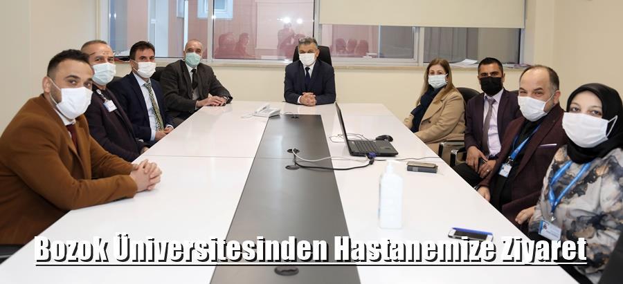 Bozok Üniversitesi hastane idaresi hastanemizi ziyaret etmişlerdir.