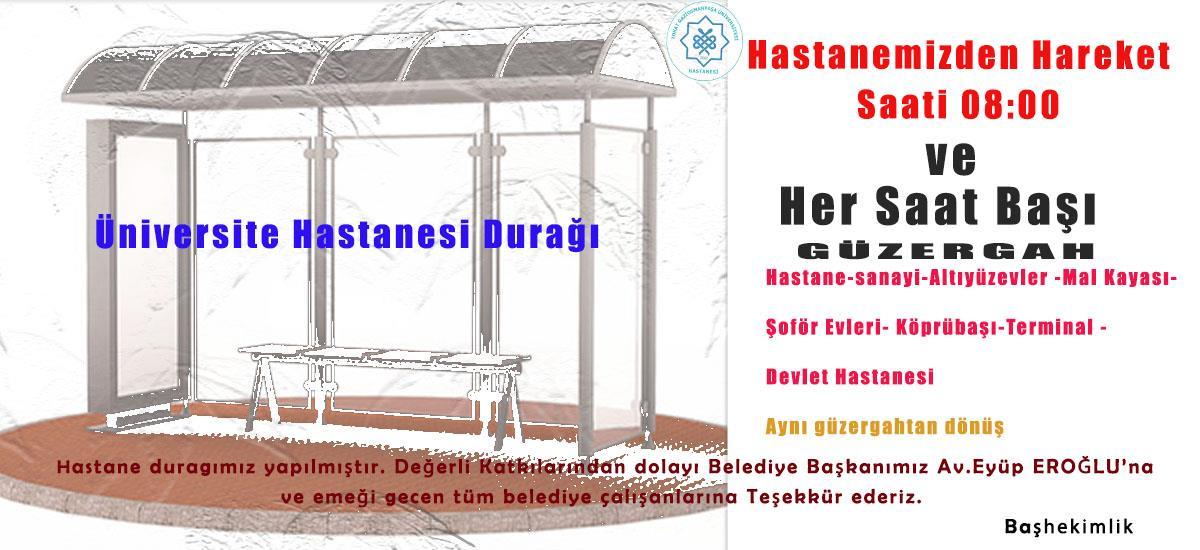 Hastanemizden Karşıyaka - Altıyüzevler - otogar istikametine otobüs seferi başlamıştır.