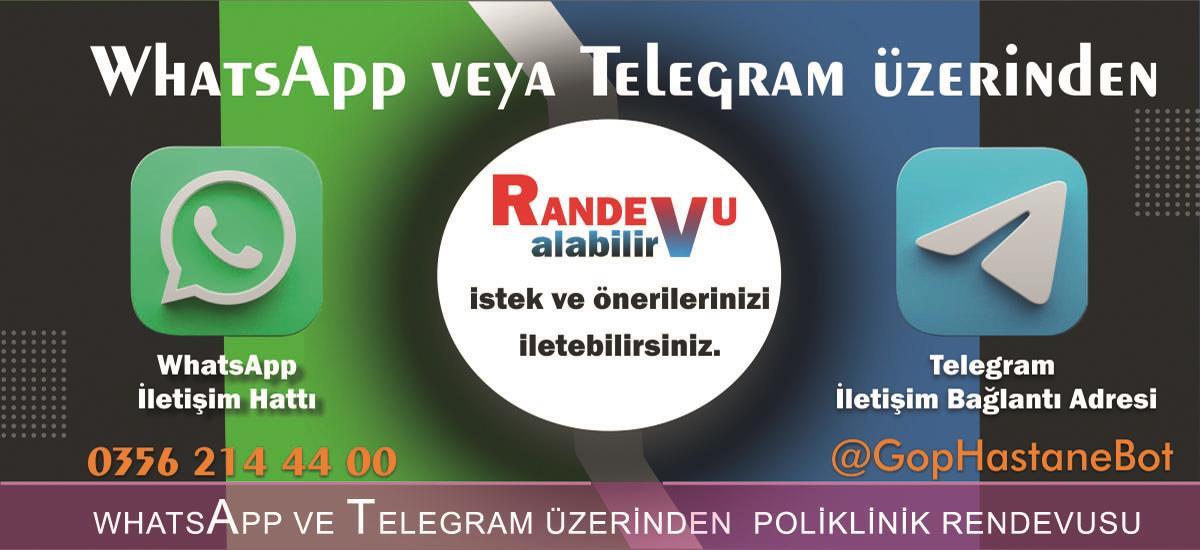 WHATSAPP VE TELEGRAM ÜZERİNDEN POLİKLİNİK RANDEVUSU