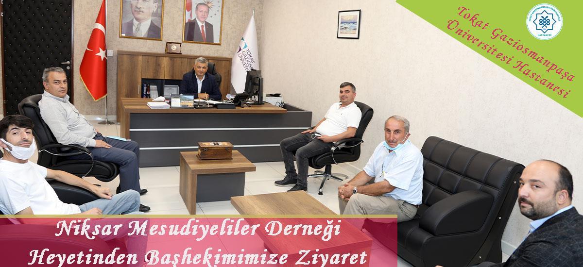 Niksar Mesudiyeliler Derneği Heyetinden Başhekimimiz Prof.Dr.Nihat ULUOCAK'a ziyaret